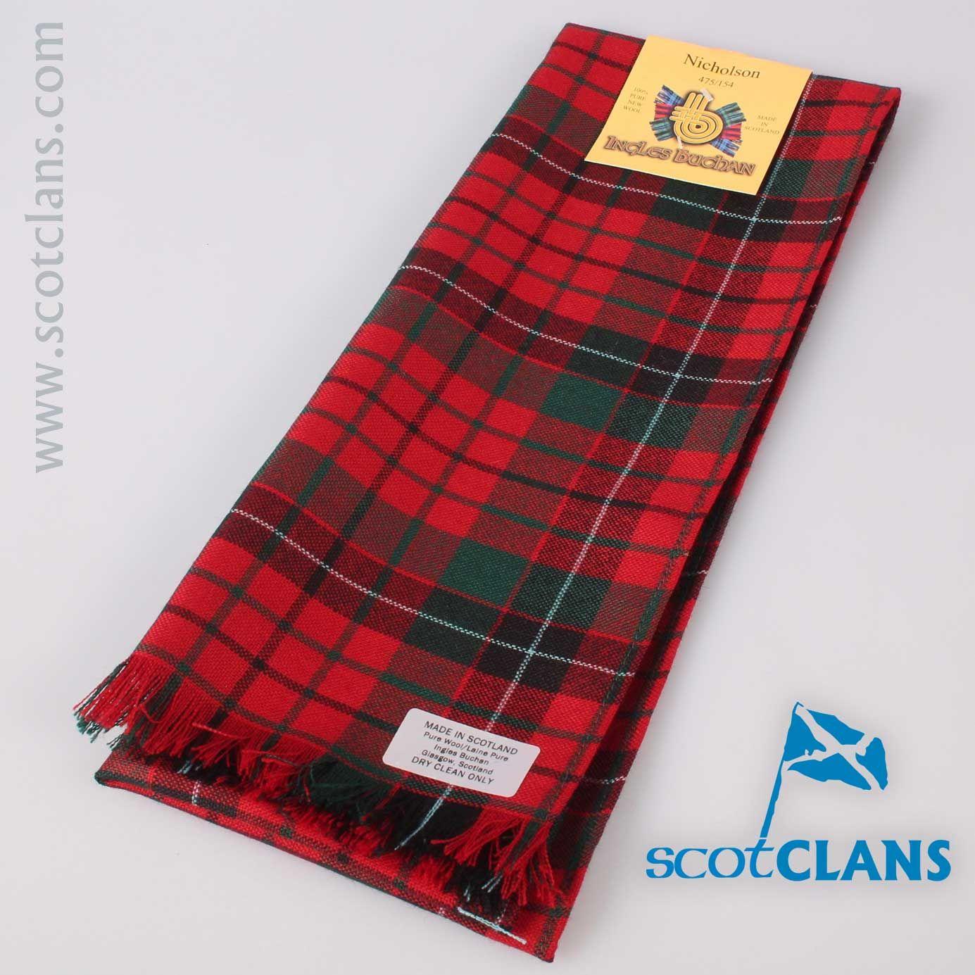Nicholson Tartan Scarf | Nicolson clan | Pinterest | Tartan and Scarves
