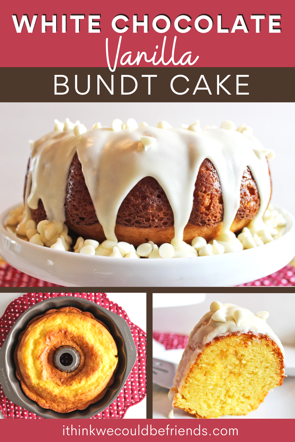 The Best White Chocolate Vanilla Bundt Cake Starts With A Yellow Boxed Cake Mix In 2020 Vanilla Bundt Cake Recipes Cake Mix Box Cake Mix