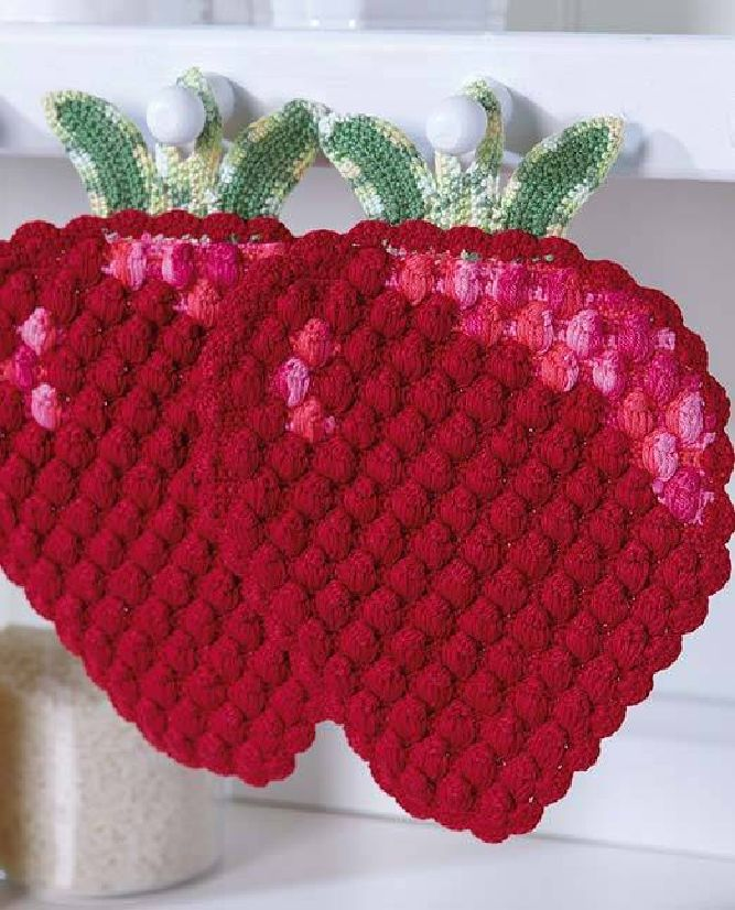 Topflappen Himbeere   Crochet and Patterns