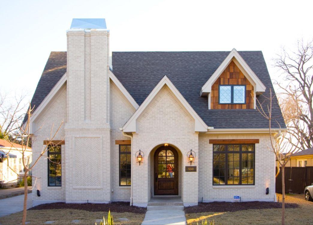 Instagram white brick cottage coastal dormer - Brick and wood house ...
