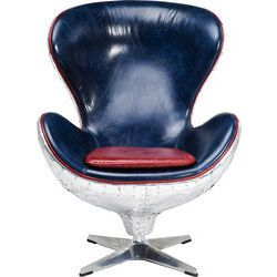 Swivel Chair Soho Big Boss Blue By Kare Design Blue Chair Swivel