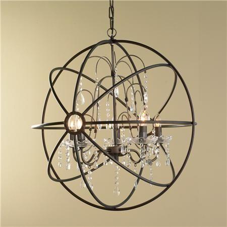 Shop CO Z 6 Light Industrial Sphere Chandelier, Oil Rubbed