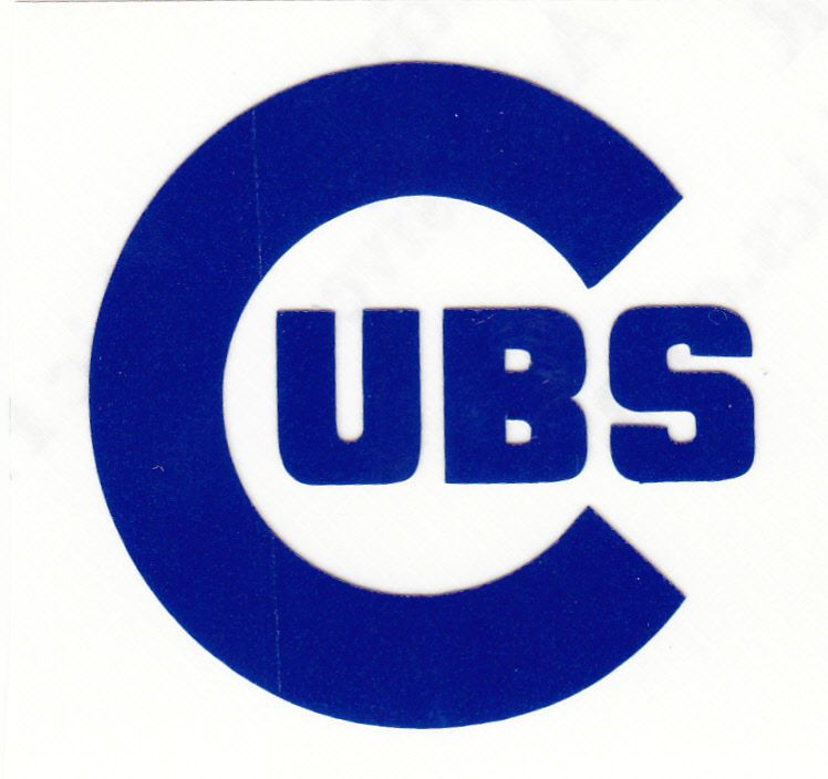 REFLECTIVE Blue Chicago Cubs Inch Reflective Fire Helmet Decal - Reflective fire helmet decals