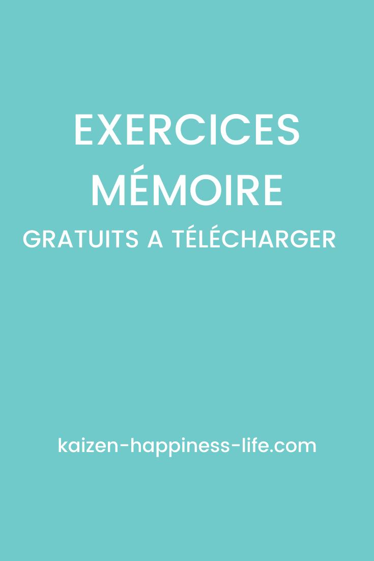 Exercices mémoire en 2020 (avec images) | Exercice mémoire ...