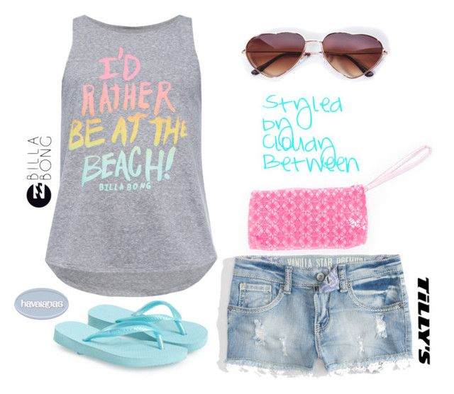"""""""Tween Fashion Beach"""" by cloudybetween ❤ liked on Polyvore featuring Havaianas"""