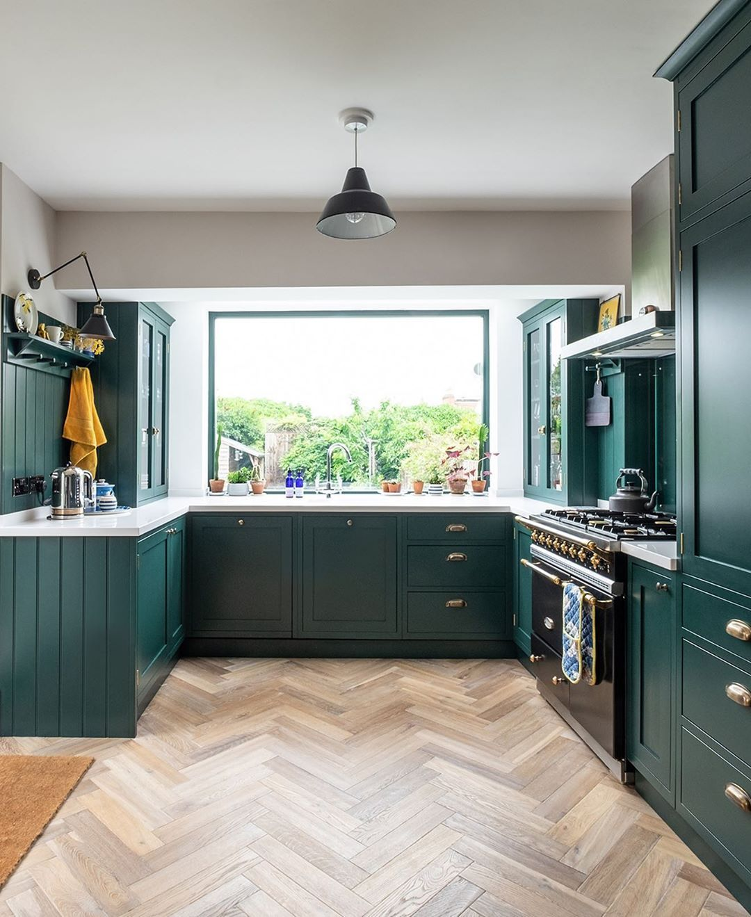 we re in love with the emerald green kitchen in textile designer blossomandbrush s bristol home on kitchen ideas emerald green id=26917