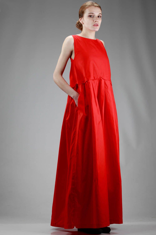 Daniela gregis long dress in stiffener cotton cloth long dress