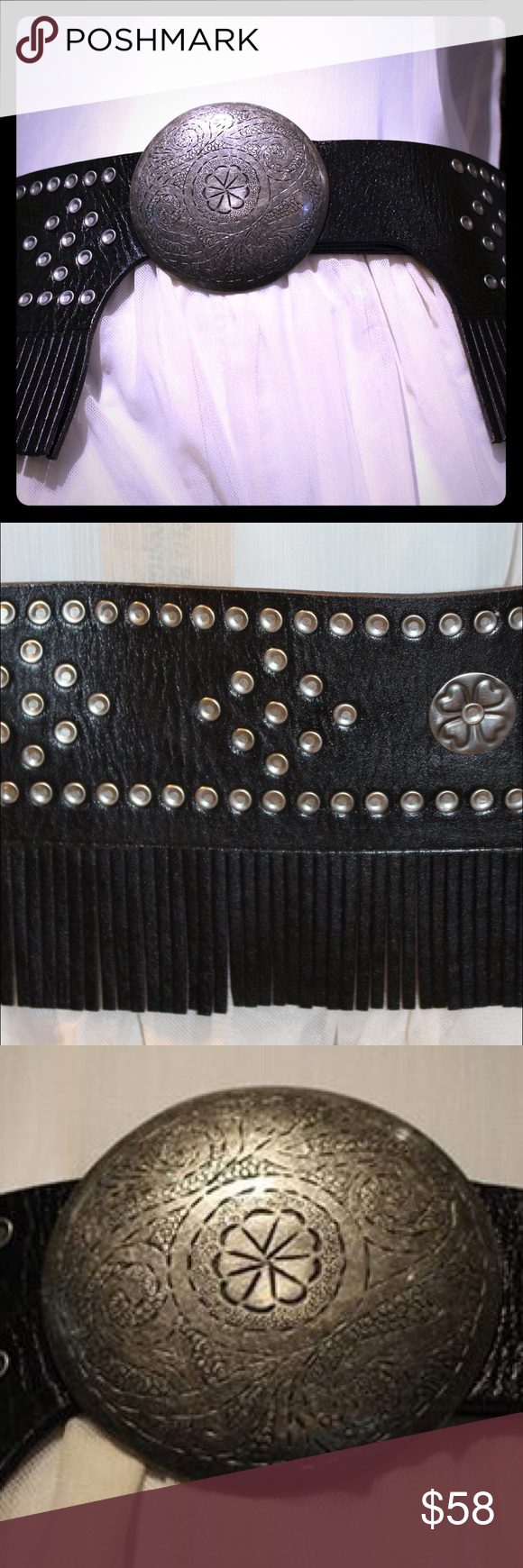 Free People Fringe Belt ✌🏻️ Excellent condition Fringe detail Silver hardware detail 6 adjustable belt holes - price firm no trades - buy for less at www.chicboutiqueconsignments.com! Free People Accessories Belts