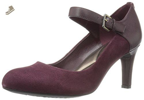 67e2db58cfce6 Easy Spirit Women's Tarni Dress Pump, Wine/Wine Suede, 8 M US - Easy ...