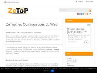 Les pages web et les articles dignes d'intérêts sont présentés sur ZeTop, sa ligne éditoriale consiste à mettre en exergue tous les contenus intéressants pour les internautes de la francophonie.