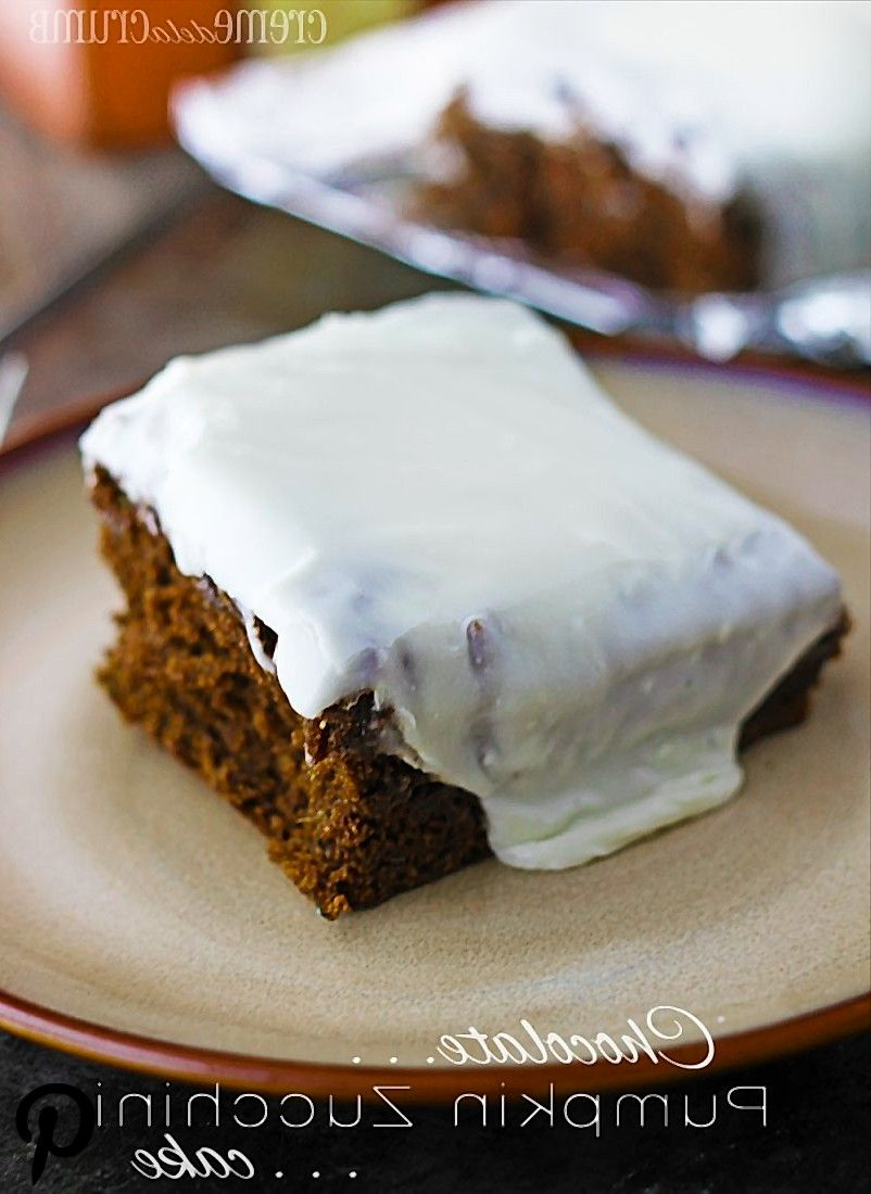 Chocolate Pumpkin Zucchini Cake  This incredible cake is basically pumpkinchocolate heaven and youd never know there was ZUCCHINI in th