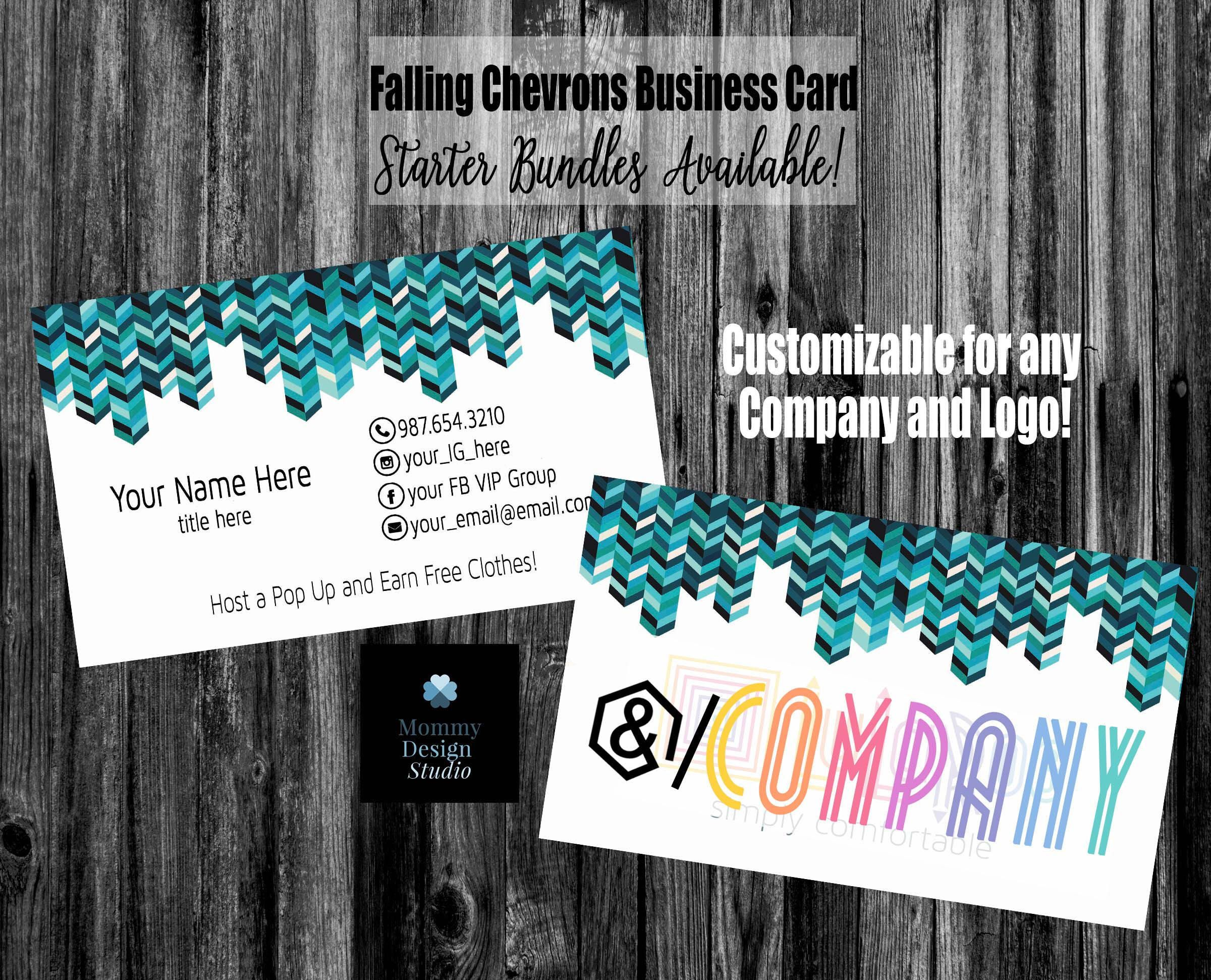 Chevron Chic Business Card - Bundles- HO Approved Compliant Branding ...