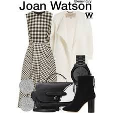 Resultado de imagem para get the look joan watson