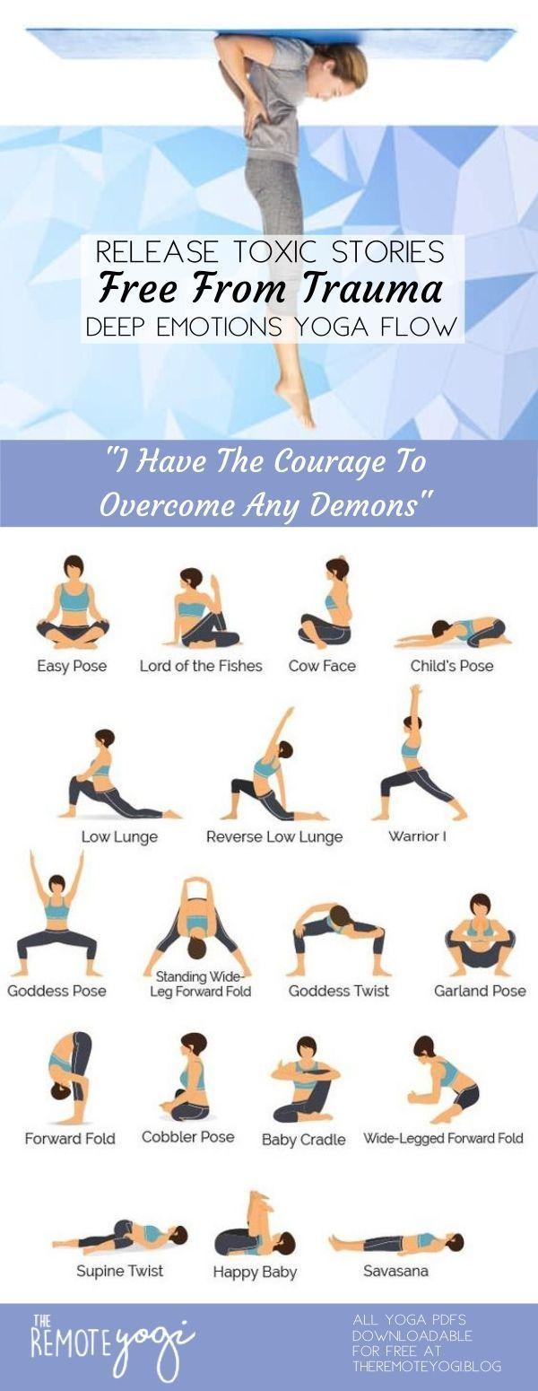Yoga To Release Emotions Printable Yoga Pdf Yoga Routine Yoga Sequences Yin Yoga Sequence