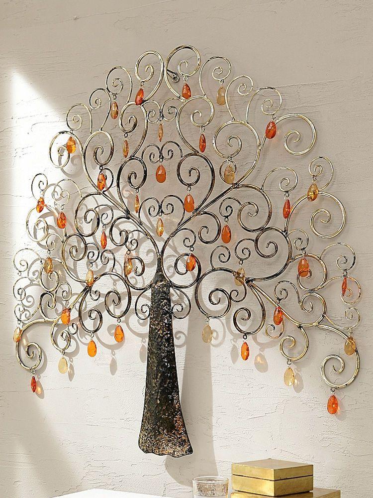 lovely arbre a bijoux mural 14 porte bijoux visage mural en m tal noir in s homeezy. Black Bedroom Furniture Sets. Home Design Ideas