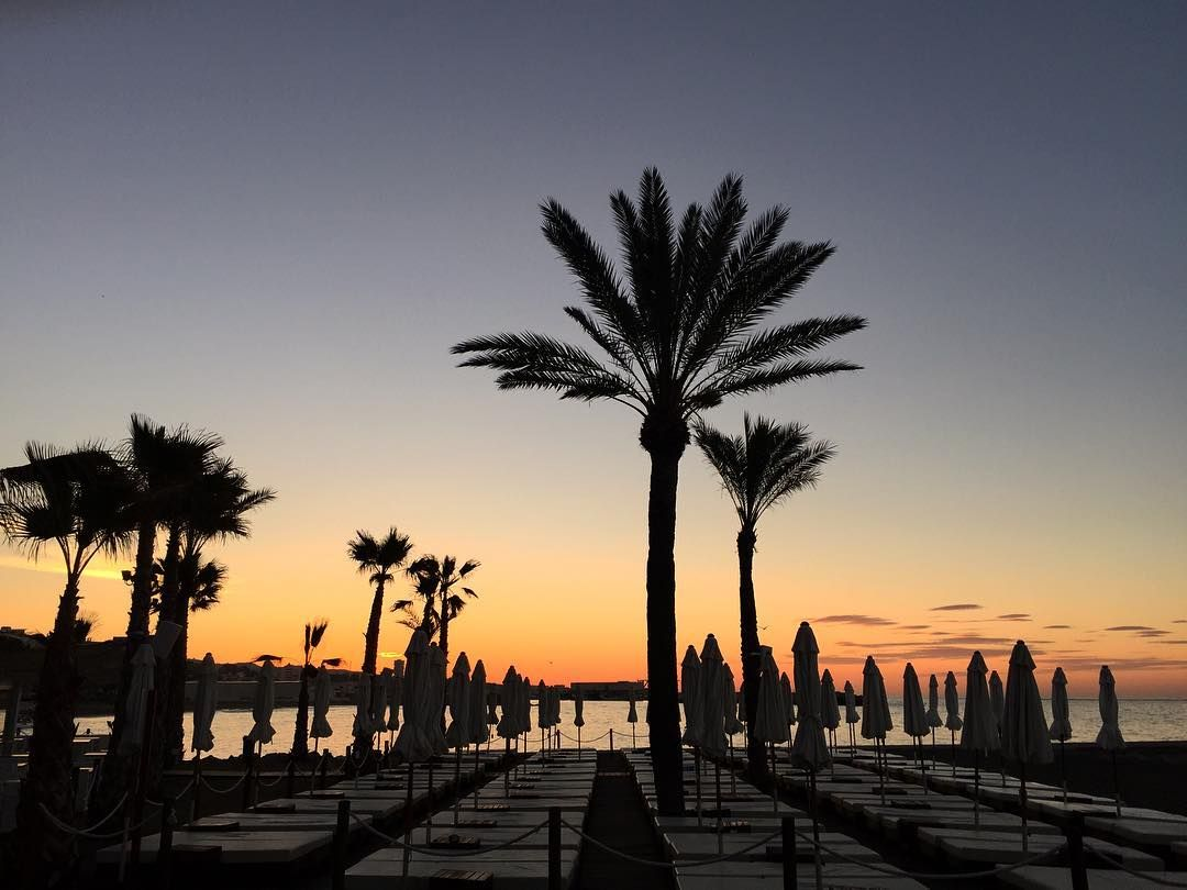 Good morning!!! Here comes the sun.... Amàre Beach. Marbella. Costa del Sol . Spain #AmàreMarbella by josudelagandara