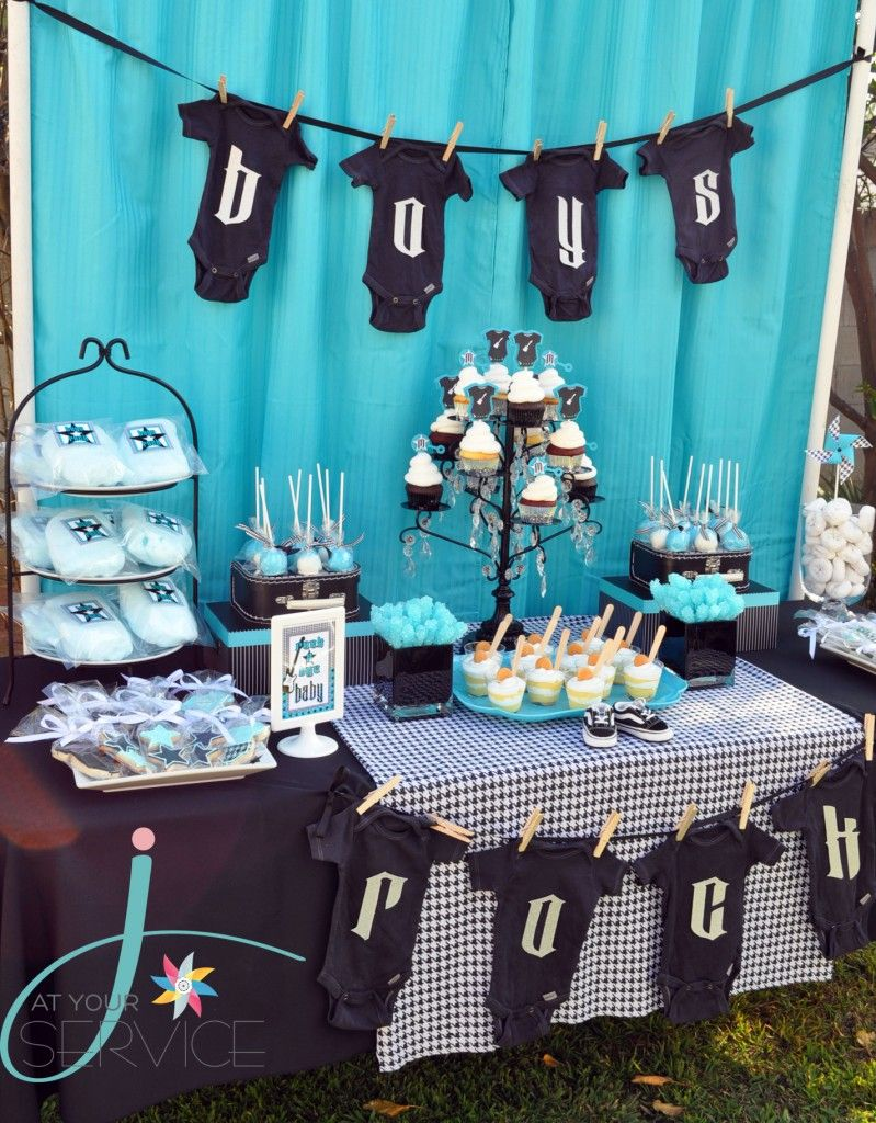Rock A Bye Baby Shower In 2019 Blogger Baby Shower Ideas Baby