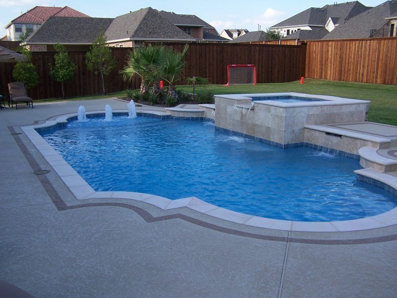 Dallas formal pools rockwall custom pool pool - Albardilla piscina ...