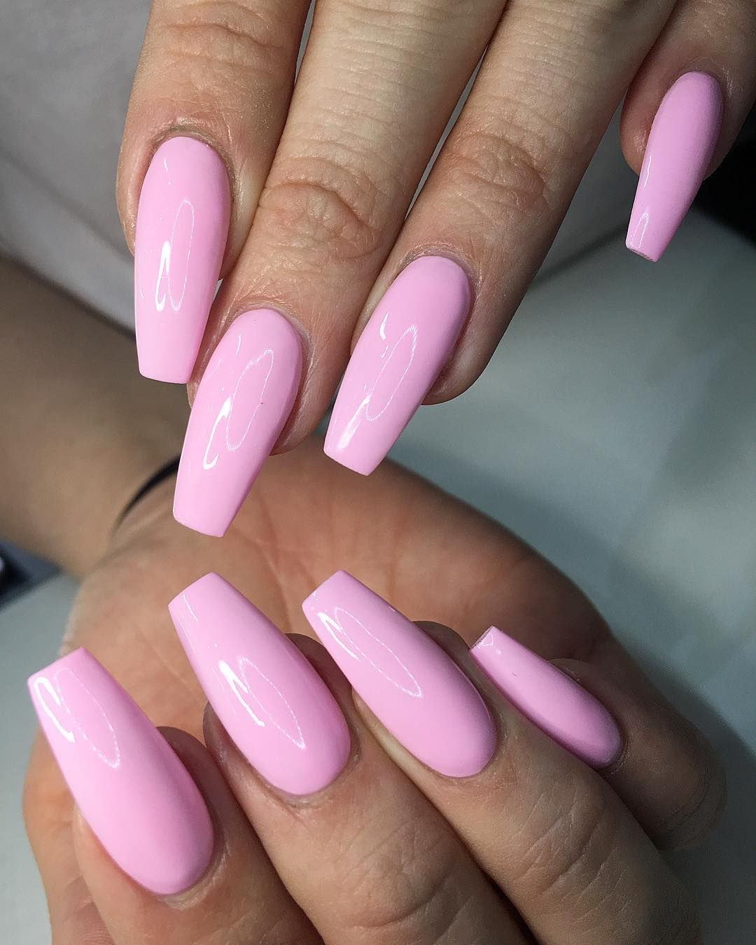 Full Set Acrylic With Regular Polish 38 Our Menu Of Services Is Designed To Cater To Everyone S Needs Light Pink Acrylic Nails Pink Acrylic Nails Pink Nails