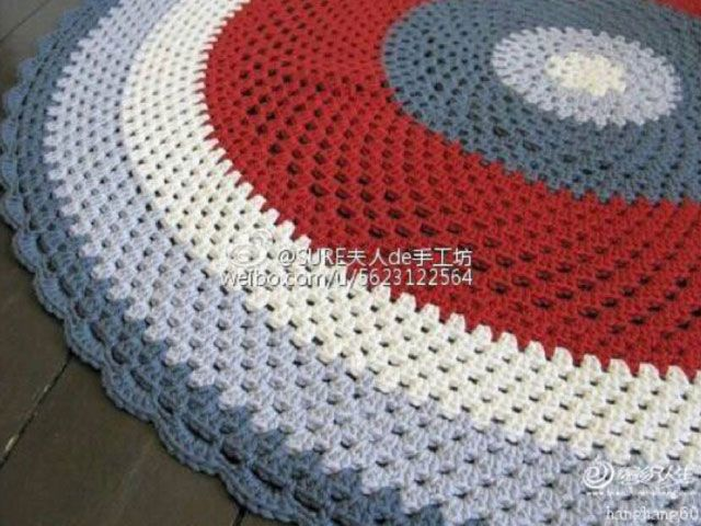 round-rug-crochet-pattern | CROCHET RUG PROJECT | Pinterest ...