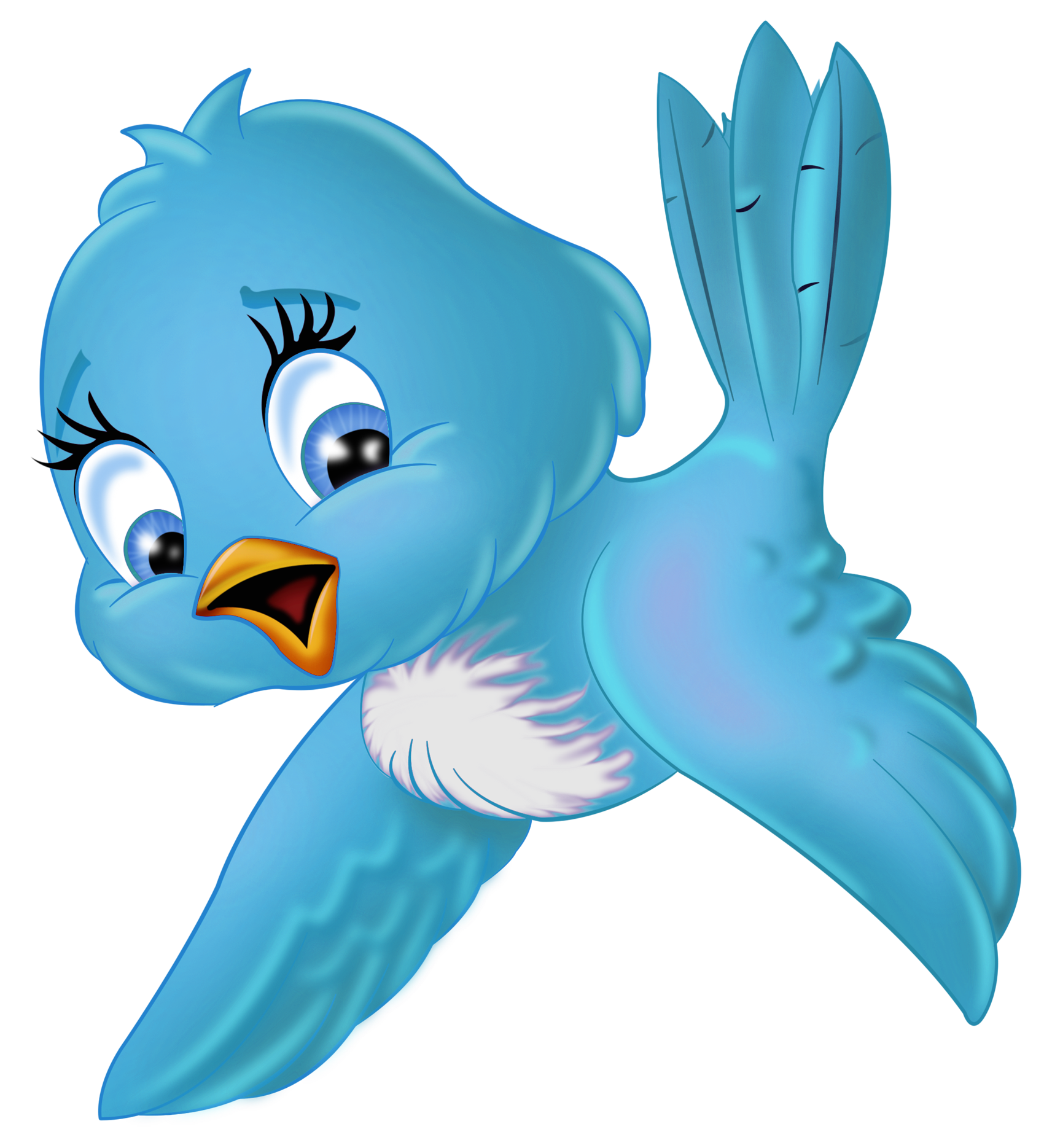 Large Blue Bird PNG Cartoon Clipart | Cartoon | Pinterest | Pájaros ...