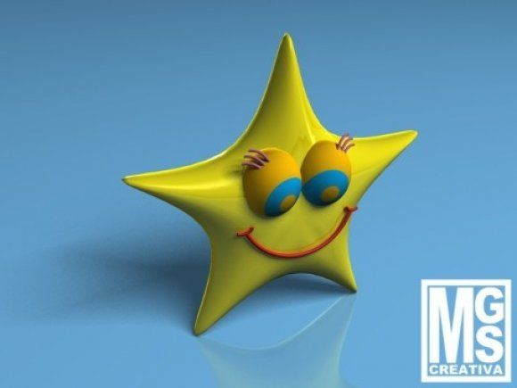 Smiling Star 3d model free