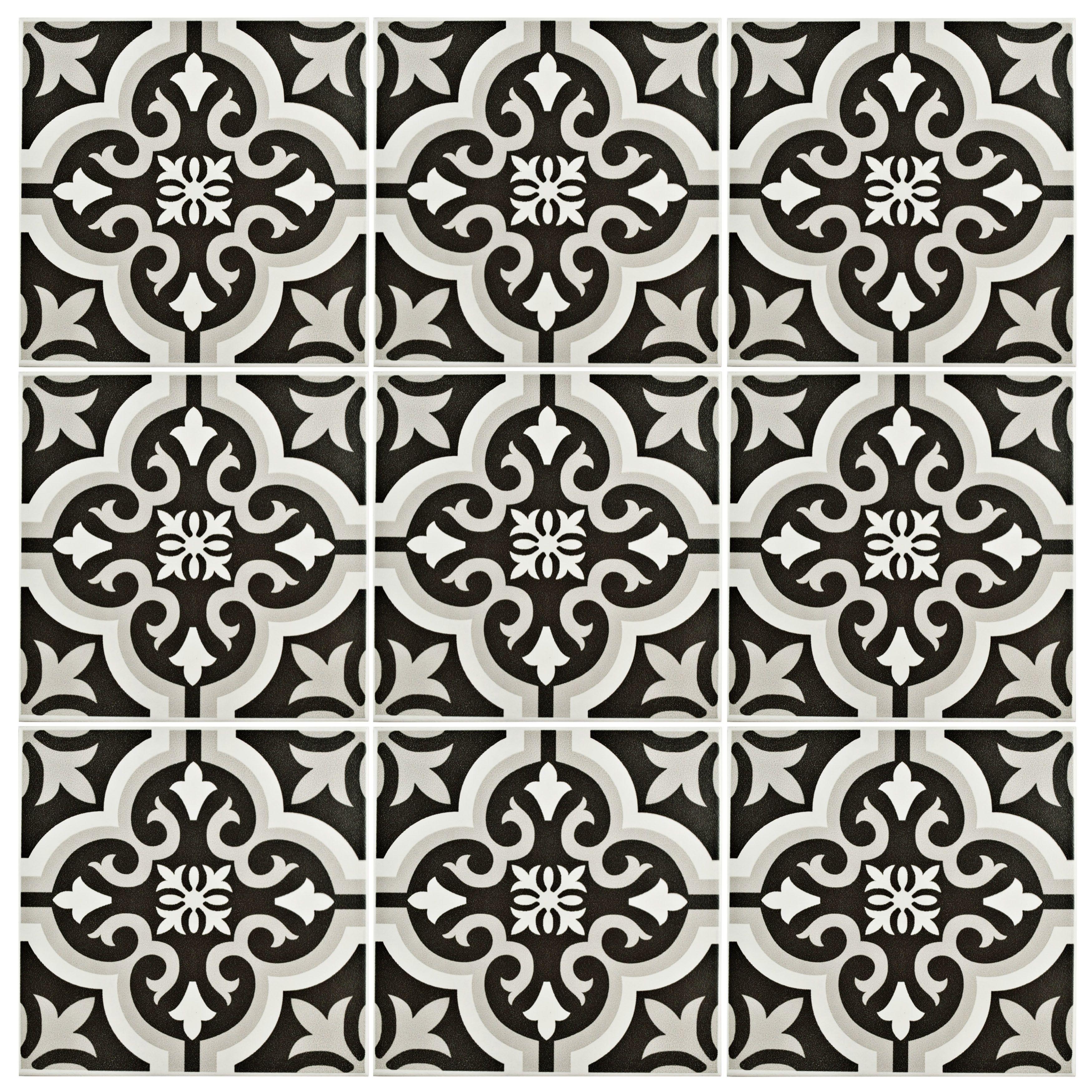 Elitetile sample lima ceramic tile in classic white and charcoal elitetile sample lima ceramic tile in classic white and charcoal grey dailygadgetfo Choice Image