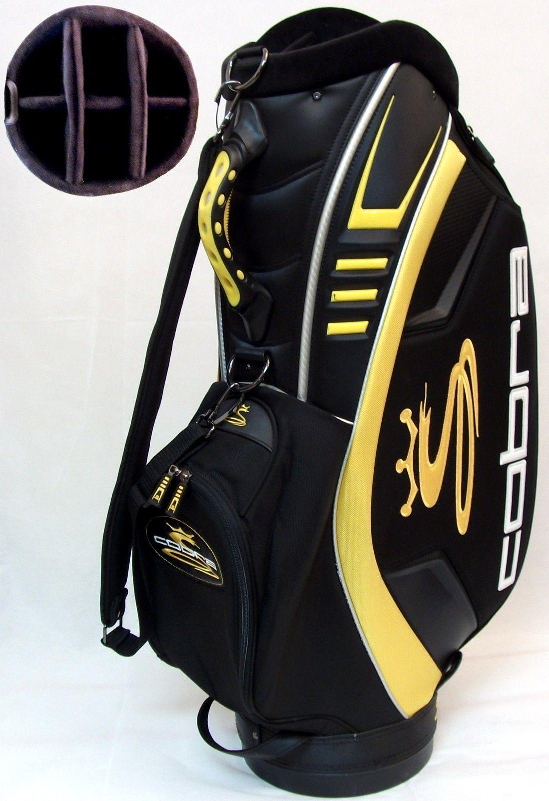 NEW Cobra Golf Staff   Cart Bag Black   Yellow 6-Way 9