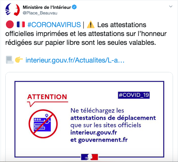 Attention ! L'attestation dérogatoire sur son smartphone n