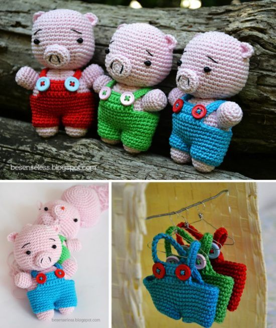 Crochet Pig Pattern Video Tutorial Lots Of Cute Ideas