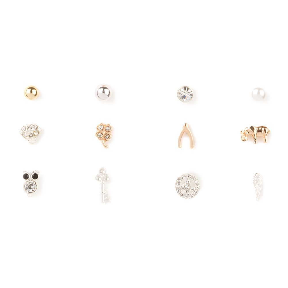 normal gallery plated stud mismatched in lyst jewelry nylon gold earrings product metallic