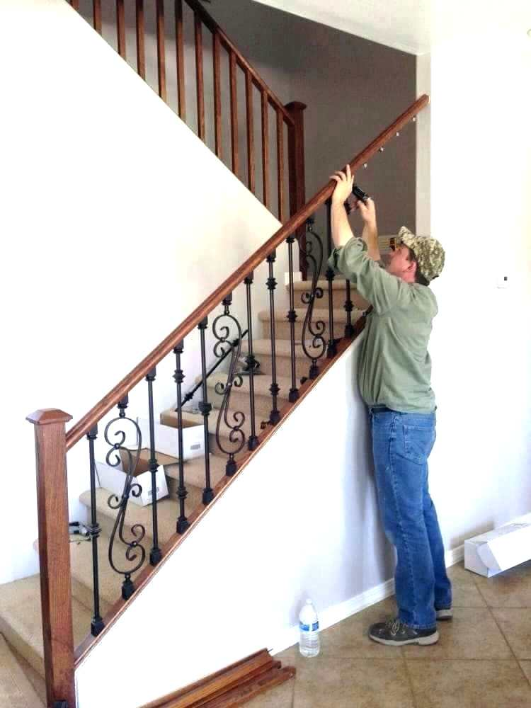 Replace Stair Railing Spindles Wooden Stair Spindles Replace Stair Railing Rails Pleasing How To Remove Stair Banist Stair Spindles Wooden Stairs Stair Railing