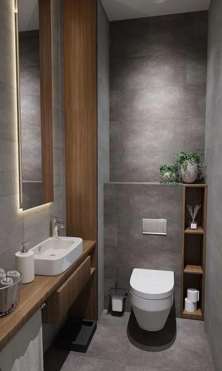 19 Creative Small Bathroom Ideas And Designs Bathroomideas Smallbathroom Bathroomdesign Small Toilet Design Bathroom Decor Luxury Small Bathroom Makeover