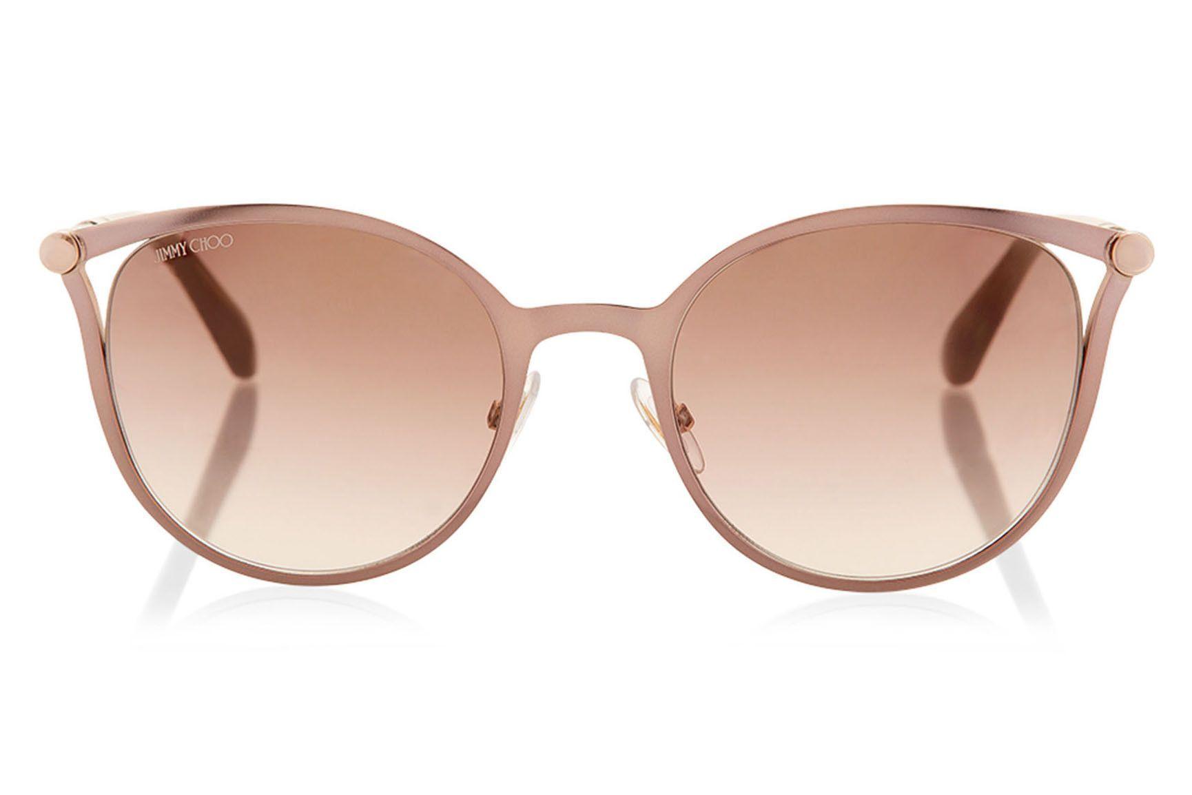 db40efcc4cb Jimmy Choo - Neiza Brown Rose Gold Cat-Eye Sunglasses