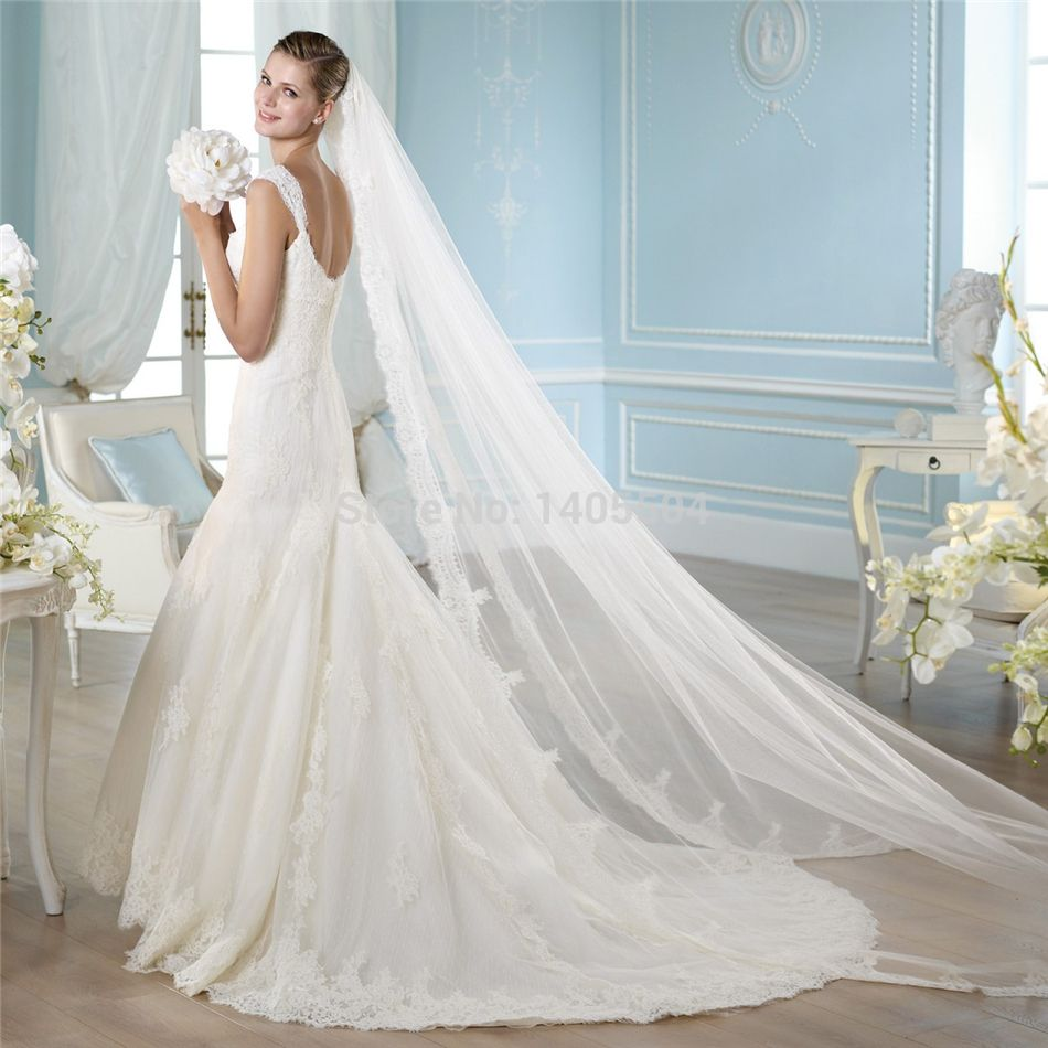 Wedding Dress 2015 New Arrival Mermaid V Neck Luxurious Pearls ...
