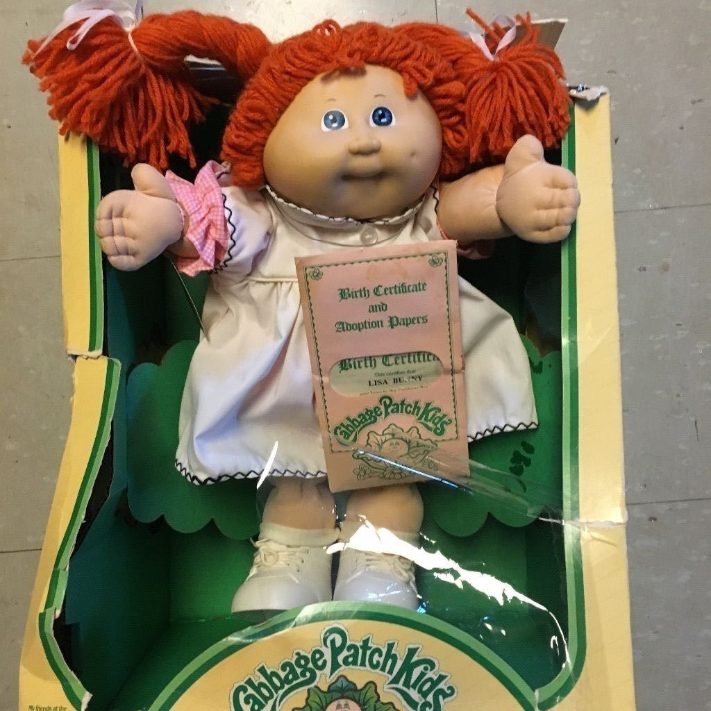 Vintage Cabbage Patch Kids Doll Lisa Bunny In Box Orange Hair Ebay Cabbage Patch Kids Cabbage Patch Kids Dolls Cabbage Patch Dolls