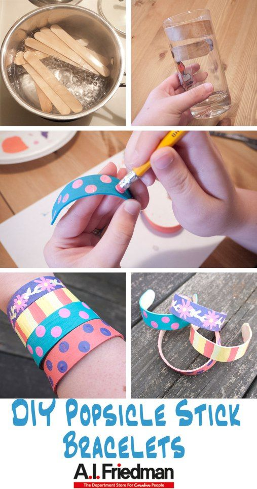 DIY Popsicle Stick Bracelets Tutorial http://www.bjcraftsupplies ...