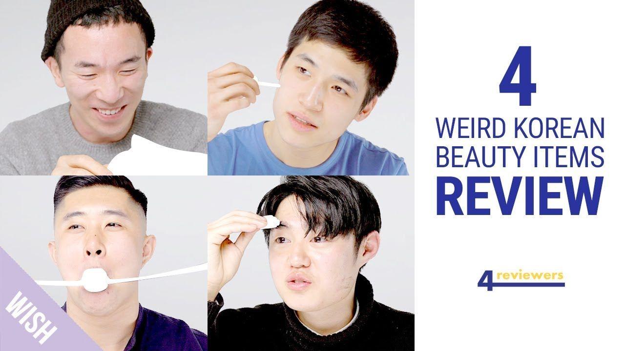 4 Hot Korean Men Try Weird Korean Beauty Products 4 Reviewers Korean Beauty Korean Men Hot Korean Guys