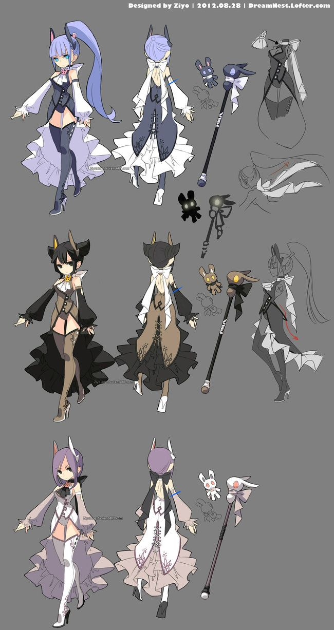 My sorceress entry to the Dragon Nest China Server's second costume design contest last year. Model sorceresses: The first is my elestra kikyo, she is my crusader black rabbit's girl friend>>...