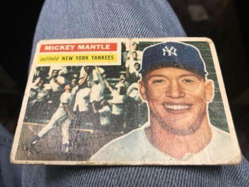 Original 1956 Topps Mickey Mantle Baseball Card 135 New