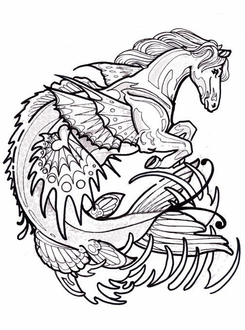 cryptid coloring pages - photo#11