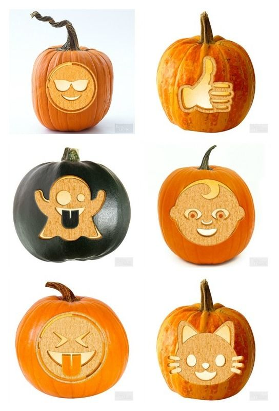20 free emoji pumpkin carving stencils at bhg holidays pinterest free emoji pumpkin for Emoji pumpkin template