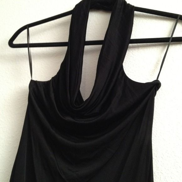 Black silky cowl-neck dress Hasn't been worn yet, tight-fitted, pretty short - about 6 or more inches above the knee Guess Dresses