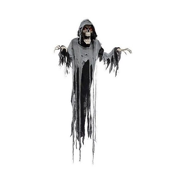 Halloween Animated Hanging Reaper , Multi-Colored ($45) ❤ liked on Polyvore featuring home, home decor, holiday decorations, halloween, multicolor, halloween home decor, distressed home decor and colorful home decor