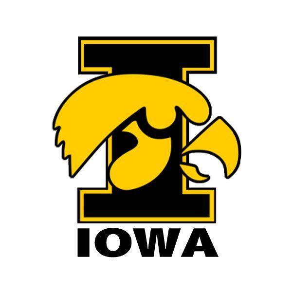 Iowa Hawkeyes Vinyl Decal I Logo Bumper Stickers Icon Free Icons