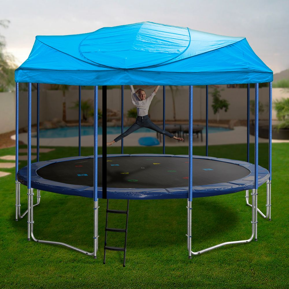Trampoline Roofs For Sale Online Oz Trampolines 16ft Trampoline Backyard Trampoline Trampoline