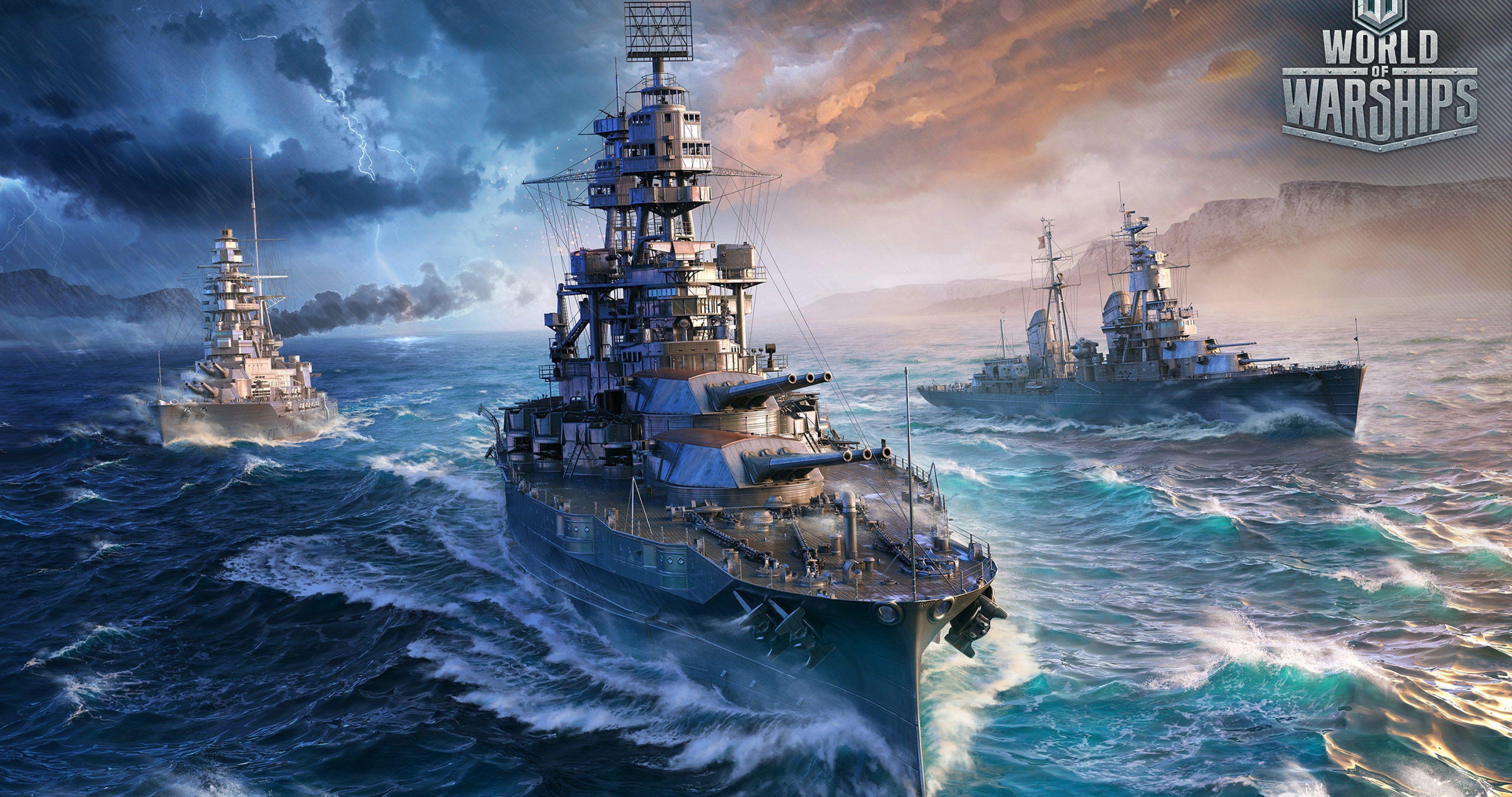 German Battleships 4k Ultra Hd Wallpaper World Of Warships Wallpaper Warship Battleship