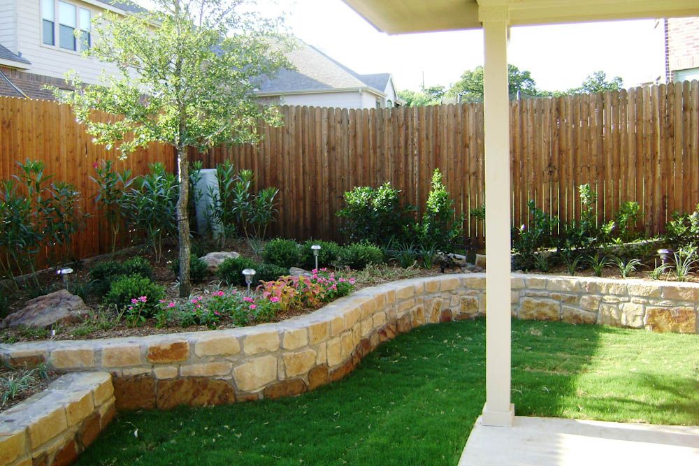 Texas Back Yard Landscape Ideas Landscape Dallas Landscape