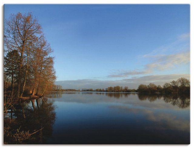 Leinwandbild »Anke Brehm: Morgens am See« #naturallandmarks