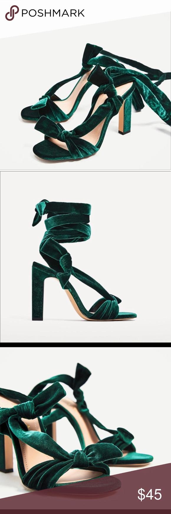 Zara Emerald Bottle Green Velvet Lace